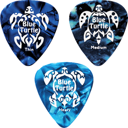 Médiators pour guitare Blue Turtle celluloïd | série standard
